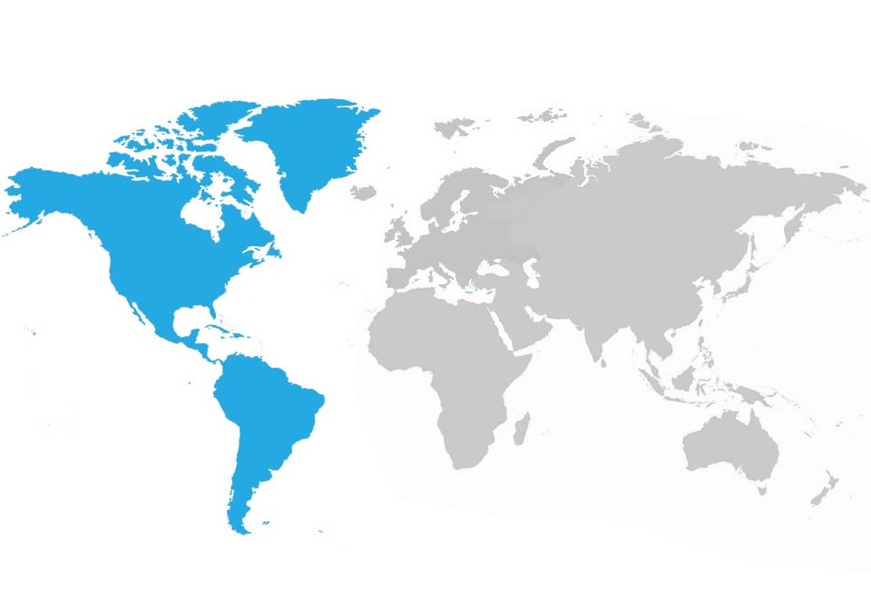map of Cristal Group Americas coverage