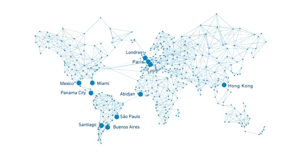 Carte des bureaux de Cristal Group