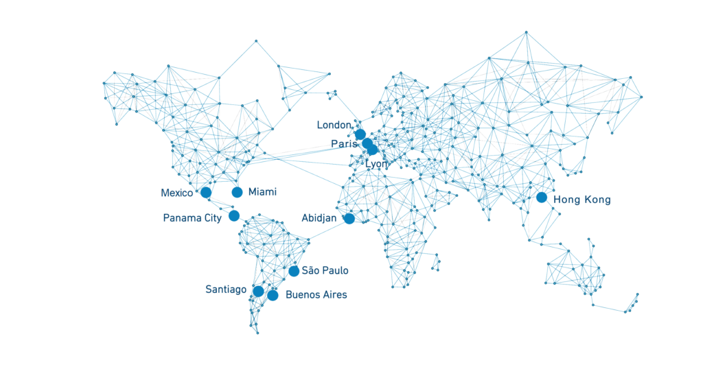 Map of Cristal Group Offices